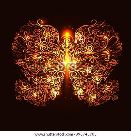 fire butterfly for your design