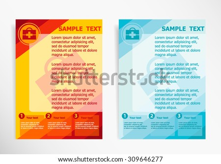 aids brochure template - vector template page design marked space stock vector