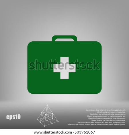 First aid flat style icon vector illustration