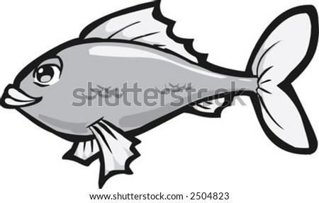 Cartoon Vector Illustration Fish Bone Fish Stock Vector 150640760 ...