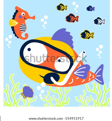 Cartoon Fish Decor | Zazzle.com.au