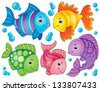 Fish theme image 4 - eps10 vector illustration. - stock vector