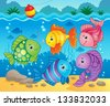 Fish theme image 6 - eps10 vector illustration. - stock vector