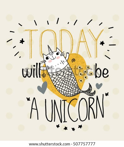 fish unicorn illustration with slogan