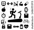 Fitness and Health icons.Illustration EPS10 - stock vector