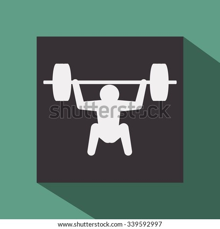 Fitness concept with gym icons design, vector illustration 10 eps graphic.