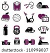 Fitness equipment collection - stock photo