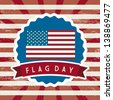 flag day background, united states. vector illustration - stock vector