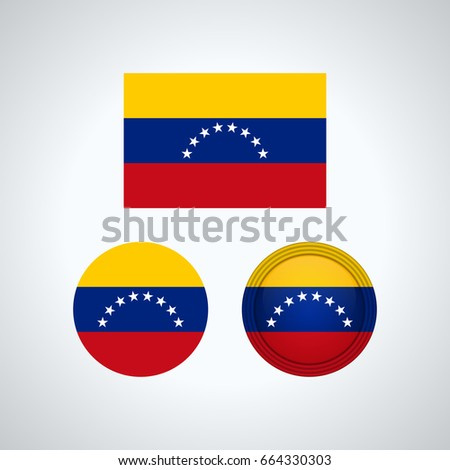 Venezuela flag template vector symbol design stock vector venezuelan flag set isolated template for your designs vector illustration pronofoot35fo Gallery