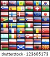 Flag icons vector design elements - stock photo