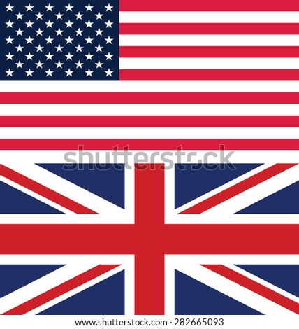 Flag of America and United Kingdom