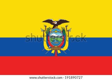 Ecuador Vector Flag Stock Vector Flag of Ecuador