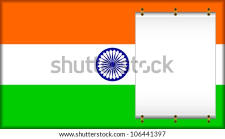 Flag of India. On a flag the banner is located.