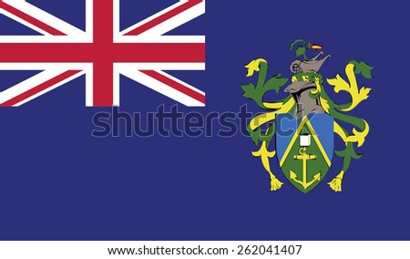 flag of Pitcairn Islands. Vector illustration.