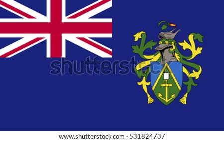 Flag of Pitcairn Islands vector illustration