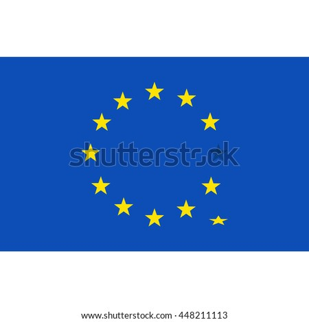 Flag of the European Union. Concept illustration for design.
