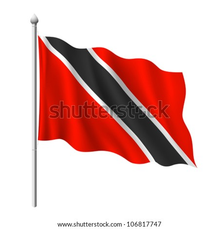 Flag of Tobago, vector illustration