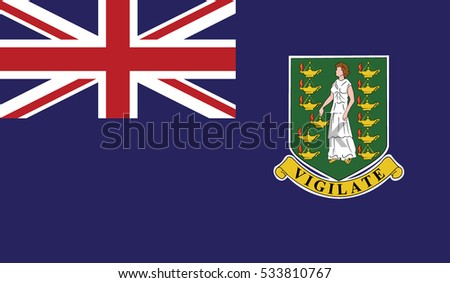 flag of virgin island uk vector icon illustration eps10