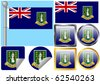 Flag Set British Virgin Islands - stock photo