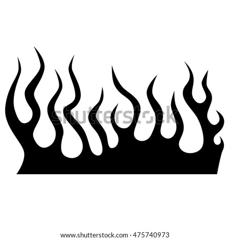 Flame Vector Fire Colored Tribal Flames Stock Vector ...
