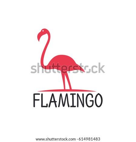 Flamingo logo stock vector 540999817 shutterstock flamingo logo design vector template pronofoot35fo Images