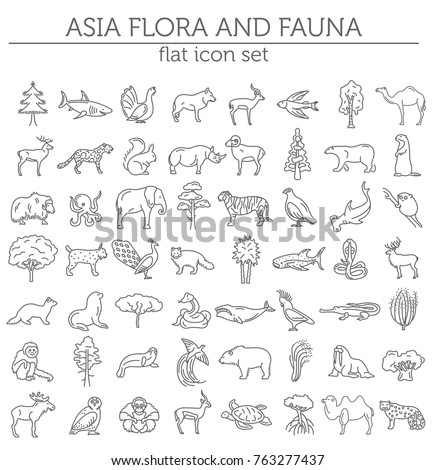 doodle forest animals plants coloring page stock vector 461501077 shutterstock. Black Bedroom Furniture Sets. Home Design Ideas