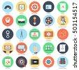 flat conceptual icon set of web ...