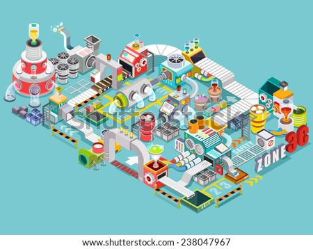 Infographics Industrial Buildings Residential Areas Illustrator ...