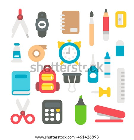 Flat design back to school set illustration vector