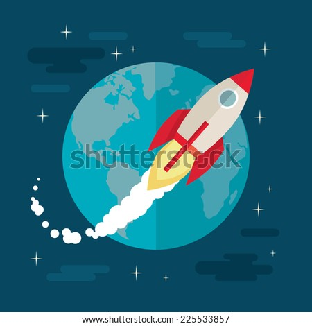 Rocket graphic stock vector 54206926 shutterstock for Flying spaces