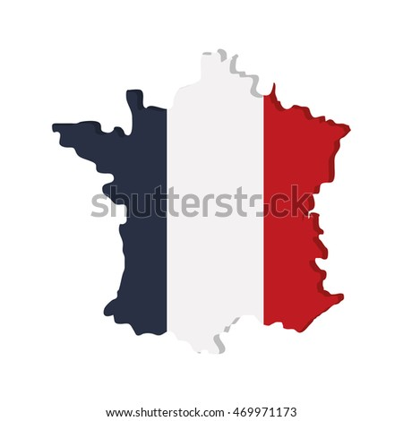 flat design french emblem icon vector illustration