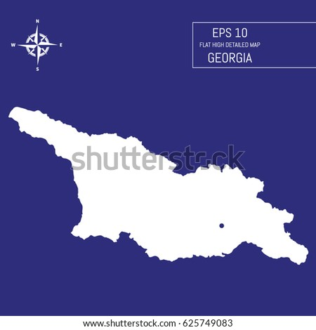 Flat High Detailed Hungary Map Template Stock Vector - Georgia map template