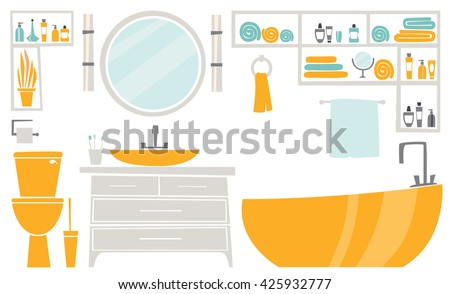 Illustration with tips on saving water consumption by man in a house - Business Card Plumbing Services Business Stock Vector