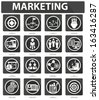 Flat Marketing Icons,Black version,vector - stock vector
