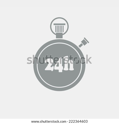 Flat vector chronometer on grey background