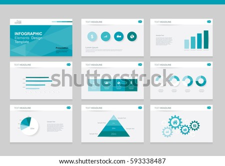 Flat Vector Set Infographics Element Design Template. For Business  Presentation Template , Brochure, And