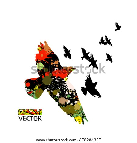 Flying Birds Sky Vector 639623851