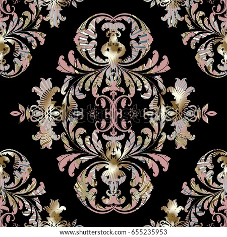 leaf scroll wallpaper vintage patterns-#23