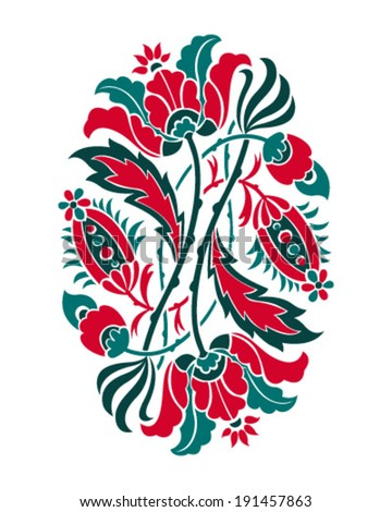 Floral decoration. Stencil pattern. Vector illustration