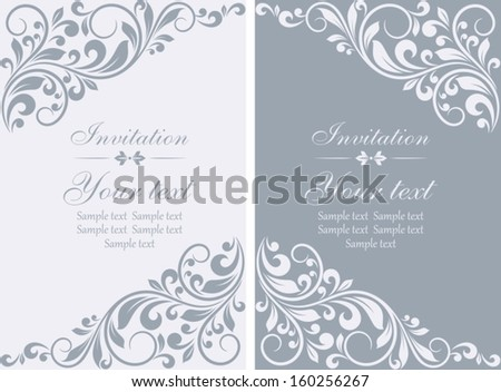 Floral invitation cards