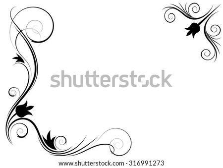 Floral ornament on a white background. Made as a frame. vector