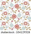floral ornamental seamless background - stock vector
