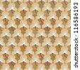 Floral pattern seamless. Flowers on brown background. Fan vector motif. Elegant wallpaper. - stock vector