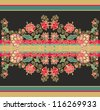 floral seamless rococo border - stock vector
