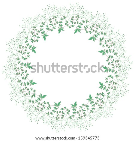 Floral wreath on white background.