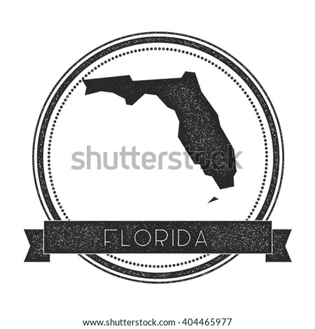 Florida State Map Geometric Polygonal Style Stock Vector - Us map florida state
