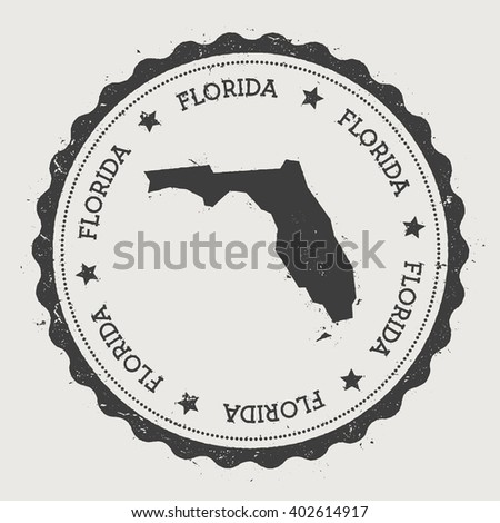 Florida State Map Geometric Polygonal Style Stock Vector - Us state sticker map