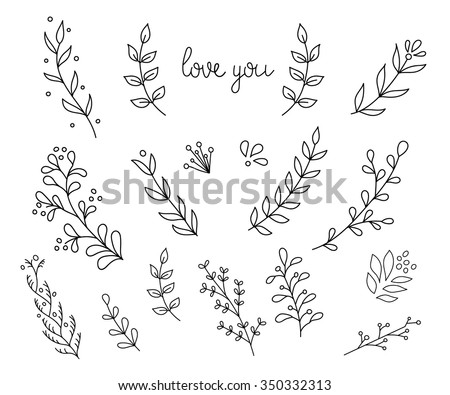 Flourish Swirl Ornate Decoration Pointed Pen Stock Vector