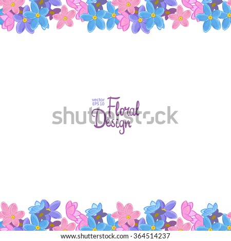flower frame on white background imagem vetorial de banco 358332638 shutterstock. Black Bedroom Furniture Sets. Home Design Ideas