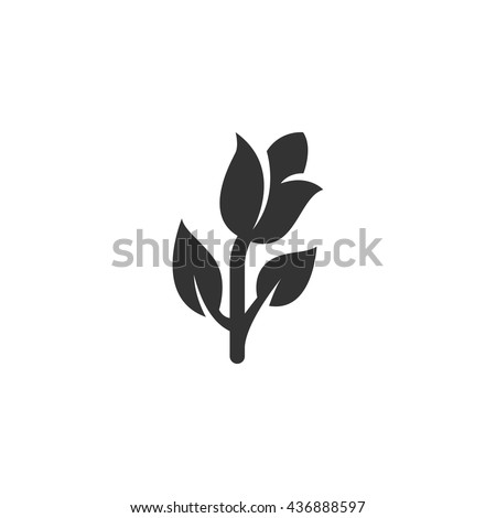 Palm Branch Vector Sketch Icon Isolated Stock Vector ...